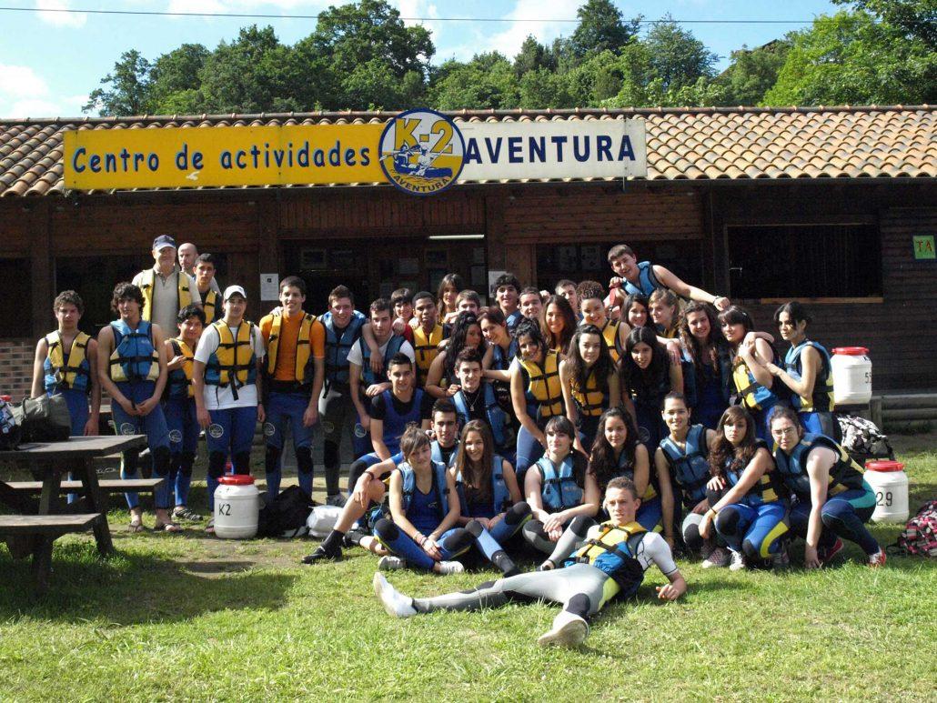 Grupo de deportistas de K2 Aventura