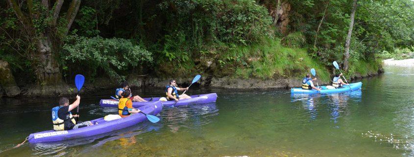 Pequeño rincón del río Sella en sus primeros 4Km de bajada en canoa