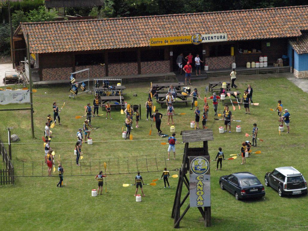 Grupo de colegio en K2 Aventura